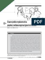 Marco Juridico Regulatorio de Las PYMES
