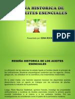 Reseña Historica Aceites Esenciales
