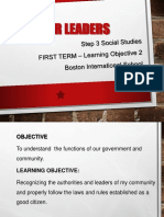 STEP 3 Social Studies L. Objective 2 - 1st Term 2019