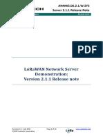 LoRa Server Release Note 2 1 1