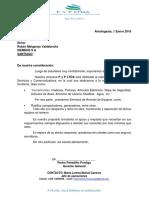 Carta Prestación de Servicios