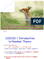 05 CSI2101NumberTheory I