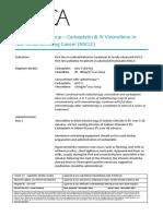 Lca Lung Protocol Carboplatin IV Vinorelbine