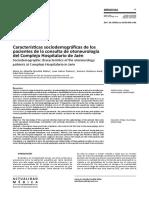 Características sociodemográficas de los pacientes de la consulta de otoneurología del Complejo Hospitalario de Jaén
