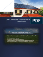 Grid Connected Solar Power in Pakistan