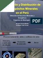 FORMACION Y DISTRIBUCIÓN DE LOS DEPOSITOS MINERLES EN EL PERU.pptx