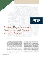 Ancient Maya Calendrics Cosmology and Cr