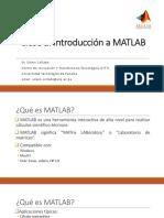 Clase 1 - Introducción MATLAB