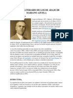 Análisis Literario de Los de Abajo de Mariano Azuela