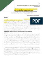 Estructura demográfica, laboral y pautas matrimoniales de migrantes bolivianos en la provincia de Tarapacá