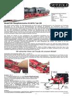 Modell der Dampflokomotive 52 8079-7 der DR