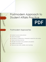 postmodern approach to student affairs practice