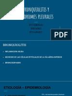 Bronquiolitis y Síndromes Pleurales