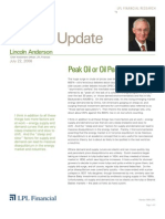 Compass Financial - Lincoln Anderson Commentary - Peak Oil - July 22, 2008