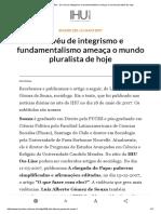 IHU Online - Um Véu de Integrismo e Fundamentalismo Ameaça o Mundo Pluralista de Hoje