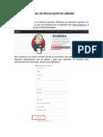 Manual Instalacion Jenkins