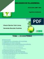 Ecología. TEMA 1 Ecosistemas