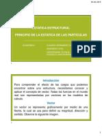 03.- Principio de la estática de las partículas