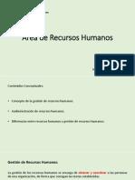 1. Área de Recursos Humanos