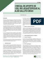 Aporte de Sedimentos Del Río Jequetepeque a La Represa Gallito Ciego - R. Delgado