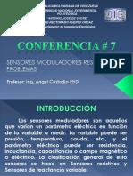 Conferencia 7 SENSORES MODULADORES RESISTIVOS PROBLEMAS.ppt