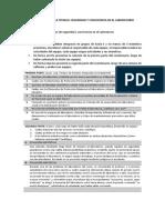 Cuestionario de laboratorio - medidas de seguridad