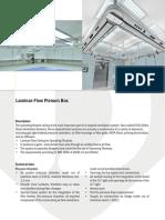 Laminar Flow Plenum Box