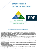 Spontaneous and Non Spontaneous Reactions