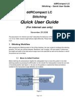 Stitching - Quick User Guide Internal