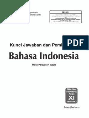 Kunci Jawaban Lks Bahasa Indonesia Kelas 11 Semester 2 Rismax