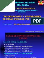 VALORIZACIÓN LIQUIDACIÓN DE OBRAS - 2010