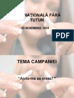 Campanie Ziua Nationala Fara Fumat 2014 Pentru Unitati de Invatamant