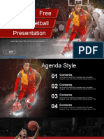 Professional Basketball Player Sports PowerPoint Templates