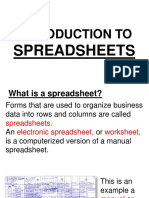 (1) Lesson for Spreadsheets