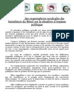 DECLARATION CSA BENIN, CGTB, CSUB, COSI-B ET UNSTB SITUATION POLITIQUE NATIONALE SIGNEE.pdf