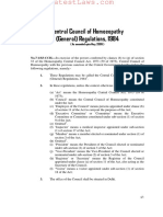 Central Council of Homoeopathy (General) Regulations, 1984