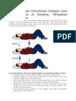Teknik Latihan Pernafasan Sebagai Cara Tahan Lama Di Ranjang