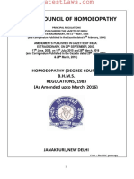 Homoeopathy (Degree Course) Regulations, 1983
