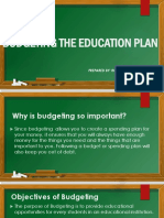 BUDGETING THE EDUCATION PLAN.pptx