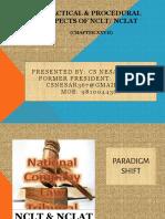 2018.05.19_NIRC ICAI_Practical & Procedural Aspects of NCLT NCLAT & IBC & Court Craft