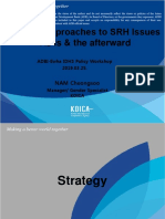 Koica's Approaches to SRH Issues