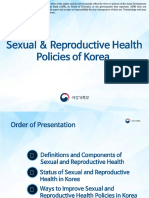 Sexual and Reproductive Health Policies of Republic of Korea