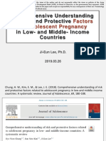 Comprehensive Understanding of Risk and Protective Factors for Adolescent Pregnancy in Low-and Middle-Income Countries