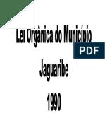 Lei Organica de Jaguaribe