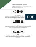 Mengenal Bentuk Geometris Dan Maknanya
