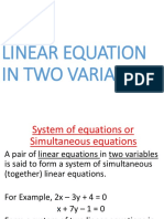 Presentation Linear Equation in Two Variables 1516100969 314387