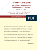 KFI Teacher Education Program