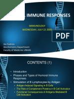 Humoral Immune Responses