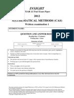 Methods Yr 12 Exam 1 2012_Q A_Final