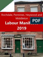 Rochdale Borough Labour Party Manifesto 2019